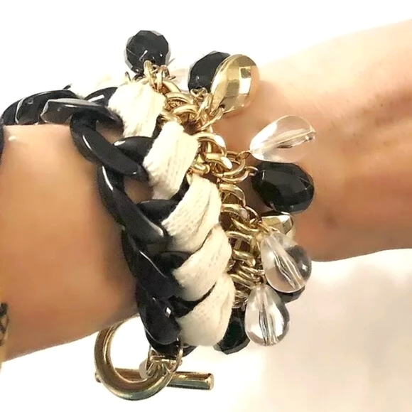 🆕Banana Republic Braided Chain Statement Bracelet